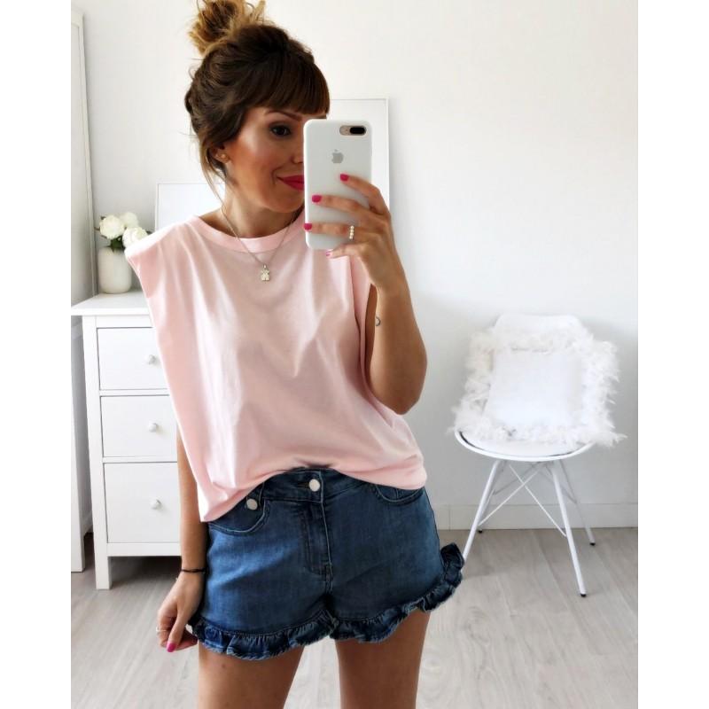 Camiseta hombreras rosita