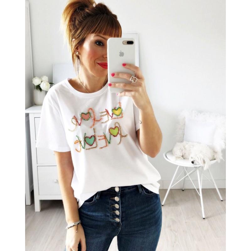 Camiseta Love abalorios