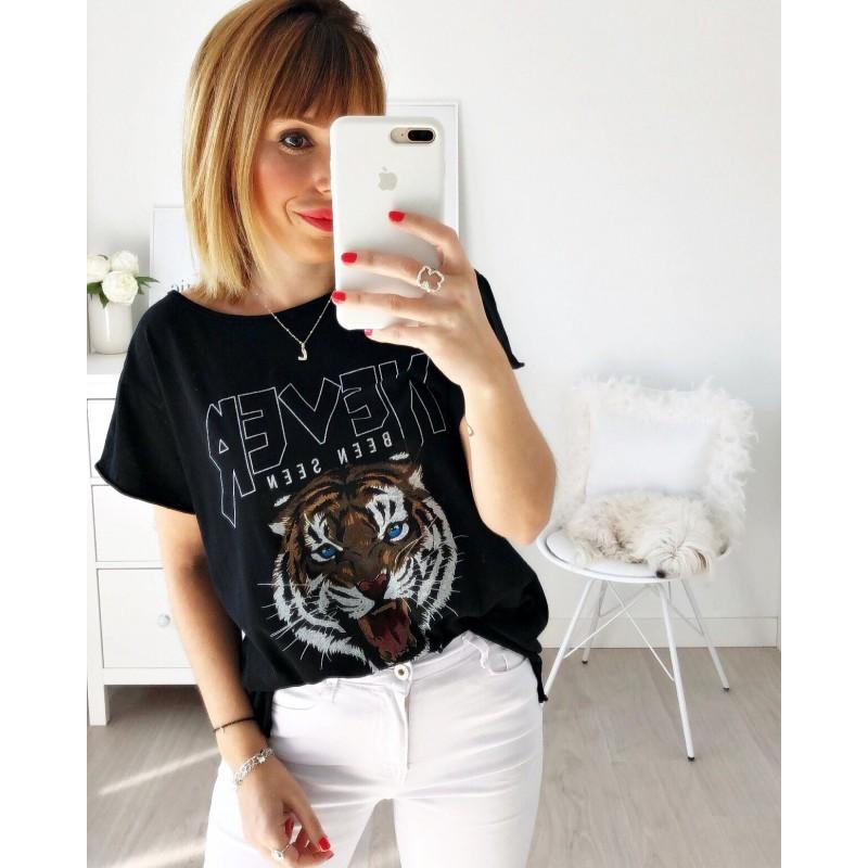 Camiseta tigre Never negra