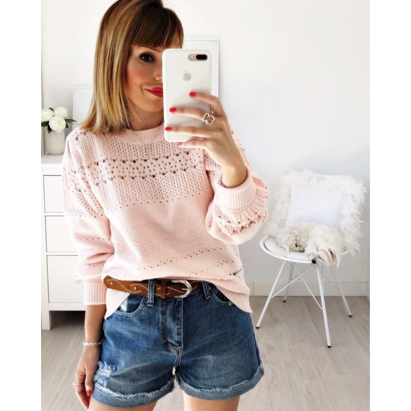 Jersey calados rosa